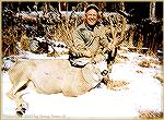 "Doug Stancill killed this dandy 6X7 buck in Wyoming''s Thorofare Wilderness. The inside spread was 30 1/2""."