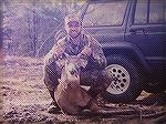 This 4-pt. buck was shot with a 300 Savage at 50 yards. Recovery 20 yards. 11/26/99