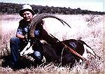 Sable antelope from Zimbabwe''s Matetse Valley. Taken in 1982 by Bill Quimbyhsable antelopebill quimby