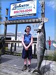 The 8 year-old, Andrew Quinn, caught the biggest king mackerel in Alabama state history on Wednesday. The record fish weighed 68 pounds, 3 ounces.